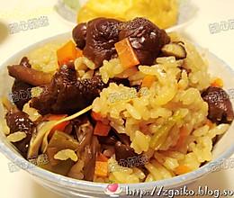 蘑菇饭的做法