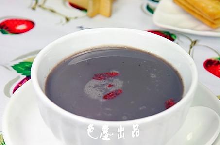 滋阴补肾黑豆米浆的做法