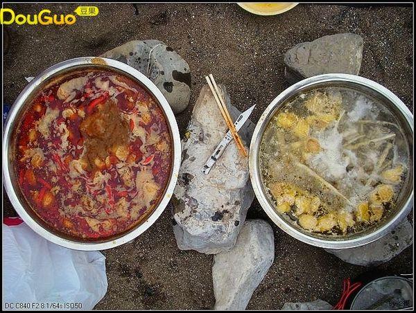 土鸡鸳鸯锅——户外美食的做法