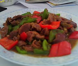 三椒炒鸡珍的做法