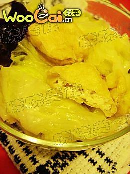 美丽厨娘--豆腐泡炖白菜的做法