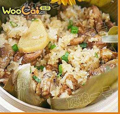 另类端午美食——粽香糯米蒸鸡的做法
