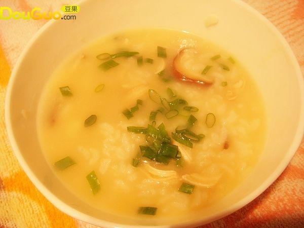 香菇鲜贝鸡丝粥的做法