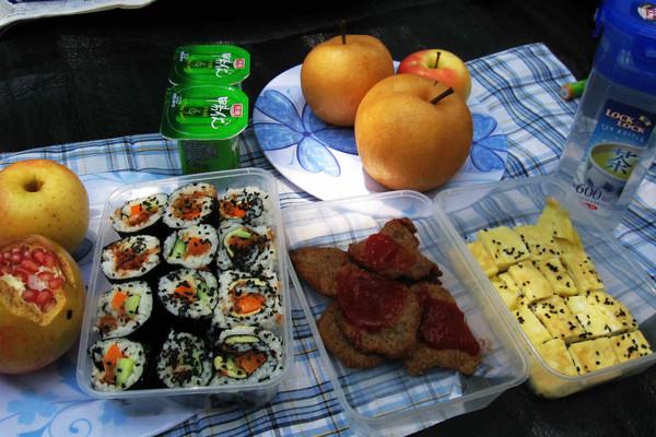 户外野餐合影--户外美食的做法