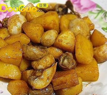 口蘑烧土豆 的做法