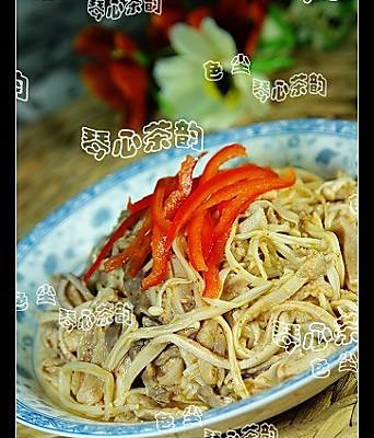 金针菇拌肚丝的做法