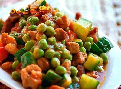 田园小炒——豌豆小炒的做法