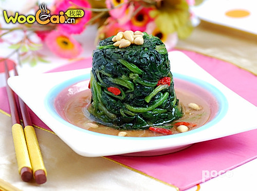 高汤松子菠菜的做法