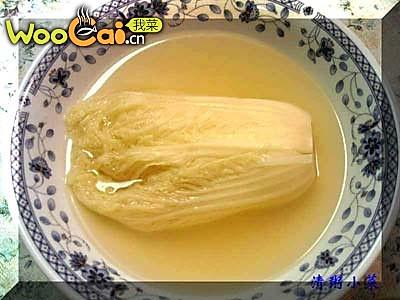 """四川传统名菜。""""开水白菜""""的做法"""