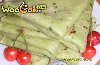绿色闲食:菠菜汁鸡蛋饼