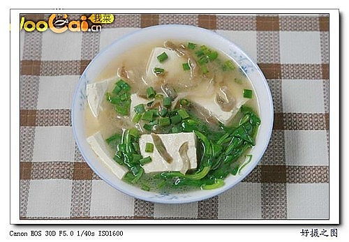 榨菜豆腐汤的做法