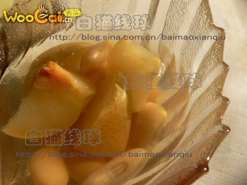 芸豆炖梨的做法