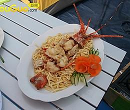 上汤芝士龙虾─户外美食的做法