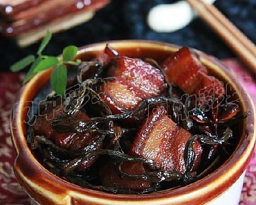 干豇豆烧肉的做法
