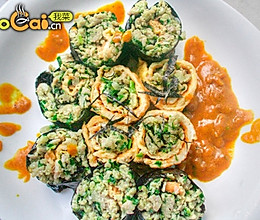 咖喱蛋卷的做法