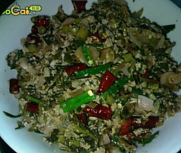 黔菜出山——酸萝卜菜头炒肉末的做法