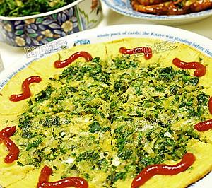 荠菜野葱饼