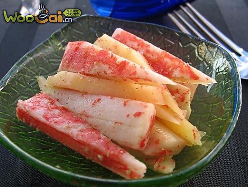 青木瓜拌蟹柳的做法