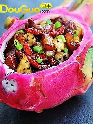 火龙果香醋肉的做法