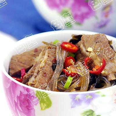 酸菜粉丝排骨——中秋美食的做法