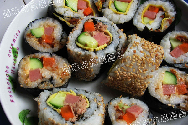 花样寿司--户外美食的做法
