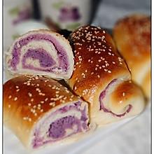 芝麻紫薯面包卷