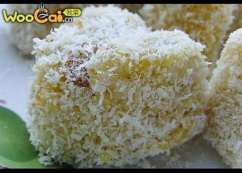 栗子椰蓉小米糕的做法