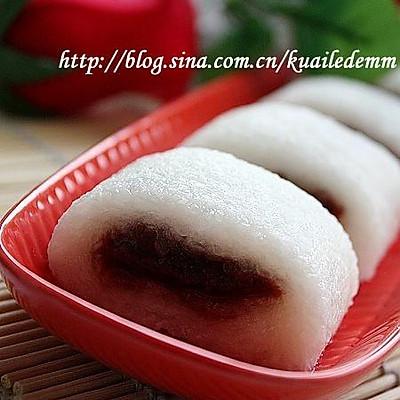 老北京凉糕---豆沙糯米卷