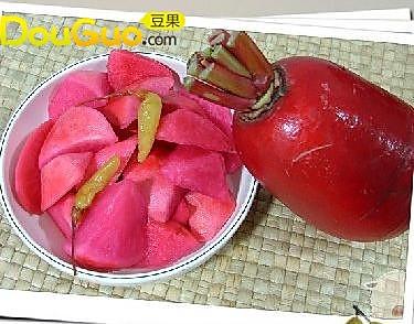 玫瑰泡菜的做法