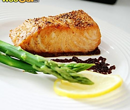 烤三文鱼的做法