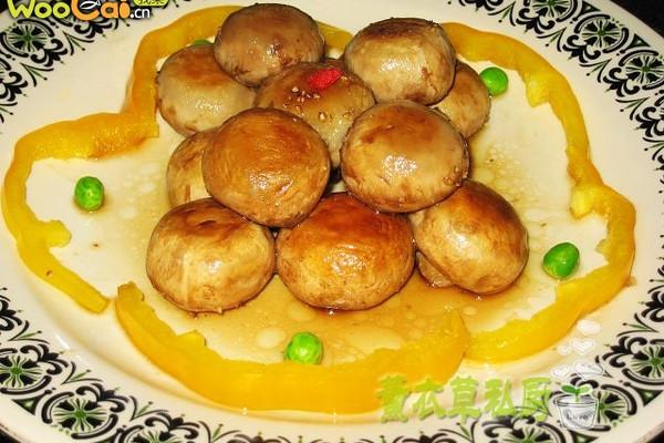 煎口蘑--美丽厨娘的做法