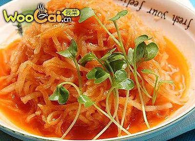韩式辣酱凉调萝卜的做法