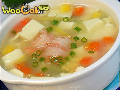 虾仁豆腐羹的做法