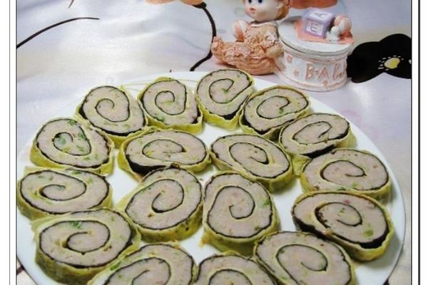 紫菜蛋皮肉卷——户外美食的做法