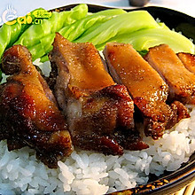 经典午餐——烤鸭腿盖饭