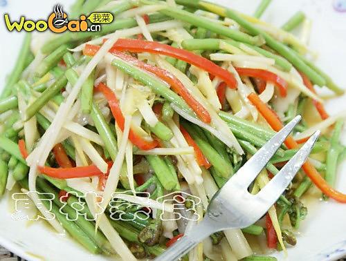 竹笋菇炒蕨菜的做法