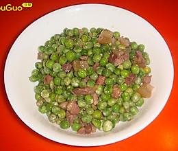 豌豆腊肉丁的做法