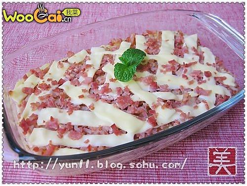 培根奶酪焗土豆泥的做法