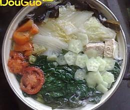 暖心八珍菜煲的做法