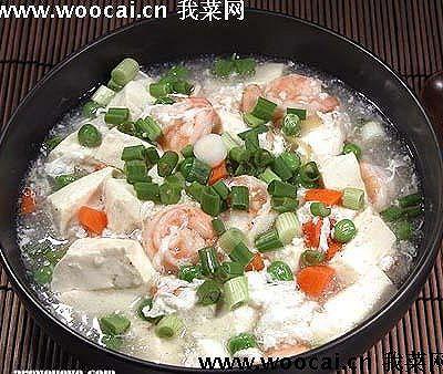雪花虾仁豆腐羹