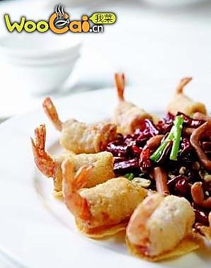 霸王培根虾的做法