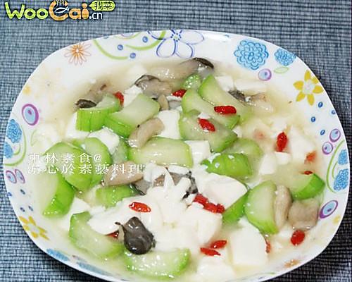 丝瓜烩豆腐的做法