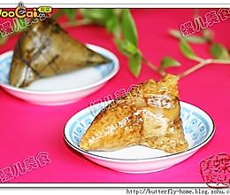 【蝶儿美食】香菇鸡腿蛋黄粽子的做法