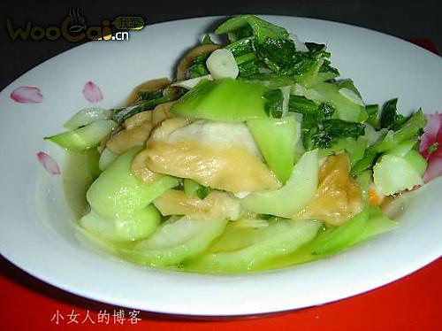 青菜烧油面筋的做法