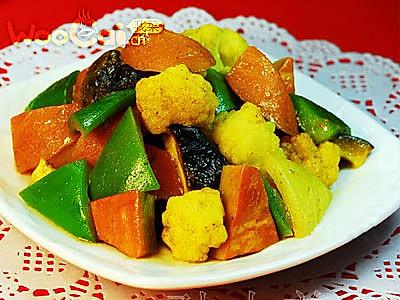 椰香咖喱杂蔬的做法