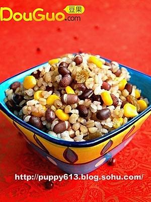 椰香杂粮饭的做法