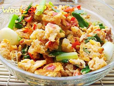 下饭菜 剁椒虾仁炒蛋的做法