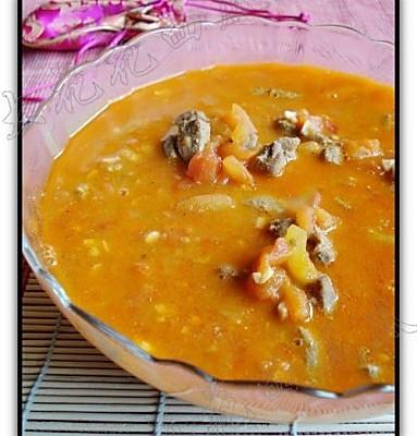 蕃茄猪肝浓汤的做法