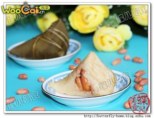 【蝶儿美食】花生糯米粽子的做法