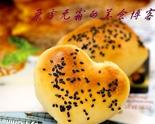 心形面包:各位元旦快乐!的做法